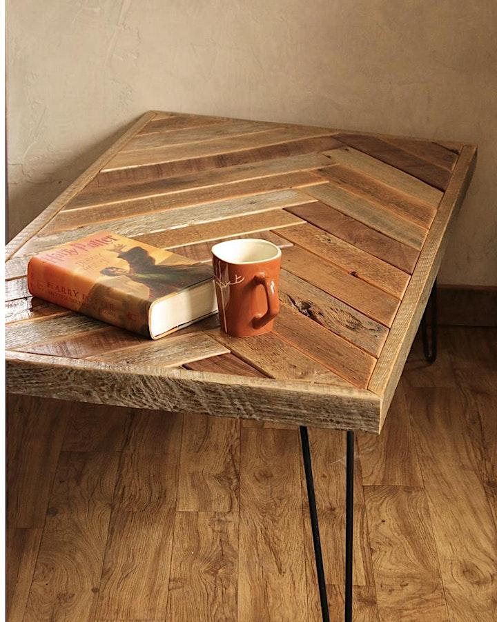 build your own herringbone modern farmhouse coffee table image