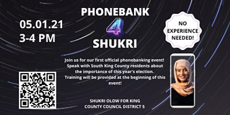 Phonebank For Shukri Olow! tickets
