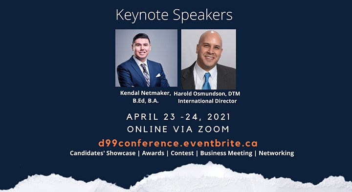 Toastmasters D99 Online Conference (23/24-Apr-2021) image