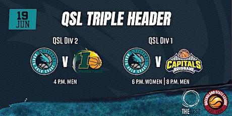 QSL Triple Header - QSL 1 v Brisbane & QSL 2 v Ipswich tickets