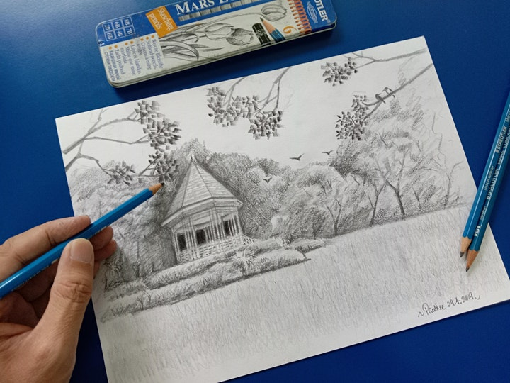 Pencil Sketching Intermediate Course starts June 2(8 online sessions) image