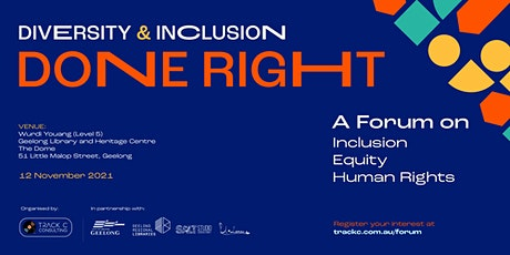 Diversity & Inclusion Done  Right tickets