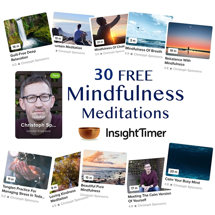 Calm with Christoph LIVE ONLINE MINDFULNESS MEDITATION image