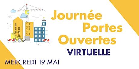 Journée Portes Ouvertes virtuelles tickets