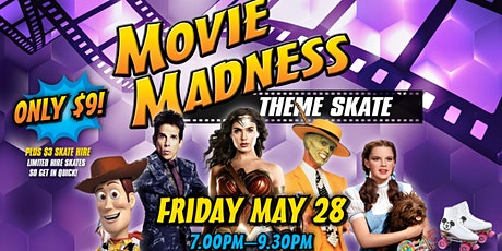 Movie Madness Theme Skate  - 28 May 2021 tickets