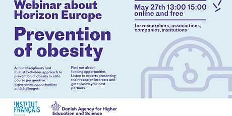 Danish French webinar about Horizon Europe - Prevention of Obesity tickets