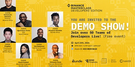 Binance Masterclass Demo Show: Join Over 50 Teams of African Devs Live tickets