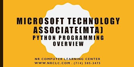 MTA 98-381: Python Programming Language Overview (FREE ) tickets