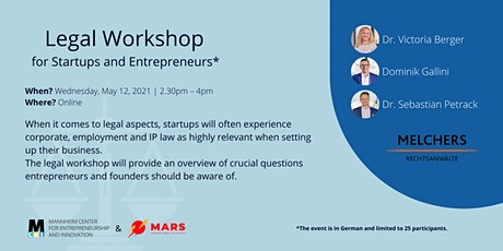 Legal Workshop for Startups and Young Entrepreneurs tickets