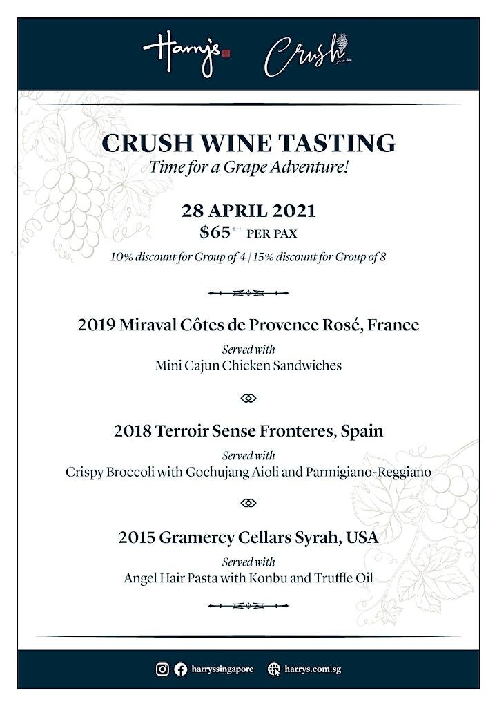 Crush Wine Tasting image