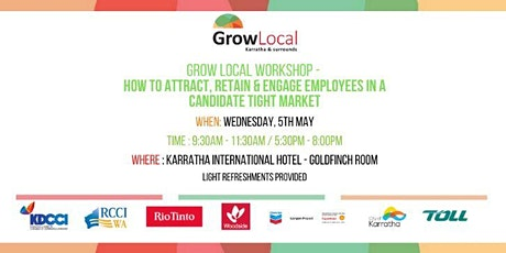 Grow Local Workshop - How to attract & retain employees in the Pilbara tickets