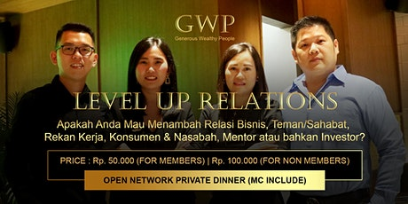 Level Up Relations for Personal & Business Purpose tickets