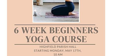 6 Week Beginners Yoga Course tickets