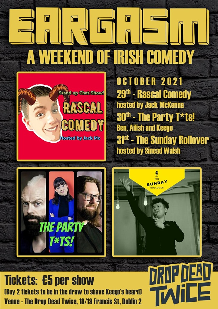 Eargasm - A weekend of Irish comedy! image