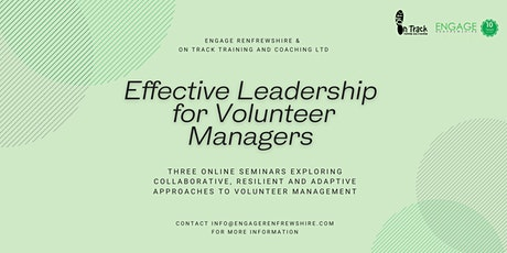 Effective Leadership  for  Volunteer Managers tickets