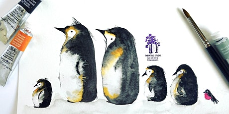 Watercolour Penguins Painting workshop tickets