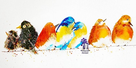 Watercolour Colourful Cheerful Birds Painting Workshop tickets