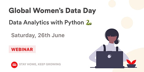 [Global Women's Data Day] Data Analytics with Python  tickets
