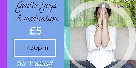 Gentle Yoga online (30m +10m meditation) Tickets