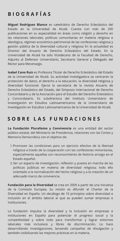 Imagen de Presentación del Informe sobre libertad religiosa en el mundo laboral