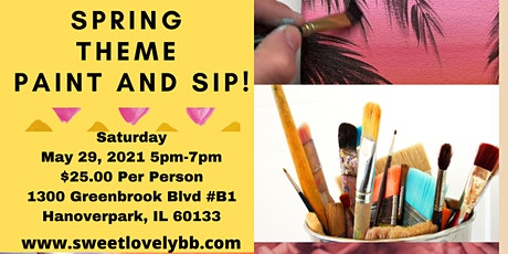 Spring Theme Paint and Sip! tickets