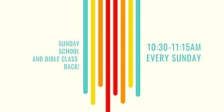 Sunday School/bible class tickets