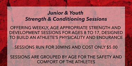Junior - Strength and Development Wednesdays @ 4:30pm tickets