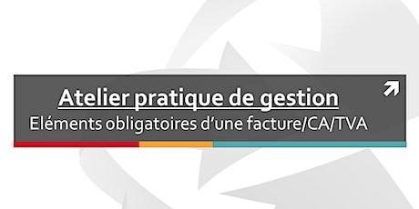 Atelier pratique de gestion : Facture / chiffre d'affaires / TVA billets