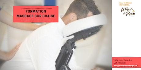 Massage sur chaise (30h) - Mai 2021 tickets