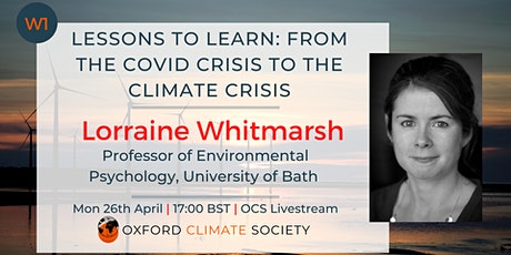 Lessons to Learn: from the COVID Crisis to the Climate Crisis tickets