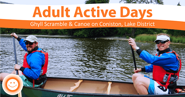 Adult Active Day Ghyll Scrambling & Mindful Canoe image