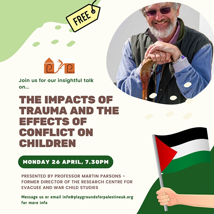 FREE talk: the impacts of trauma and the effects of conflict on children image