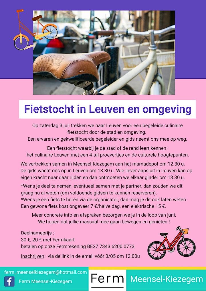 Afbeelding van Culinaire fietstocht in Leuven
