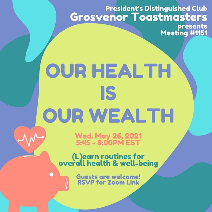 gTM Online Club Meeting #1151 - Theme: Our Health is Our Wealth image