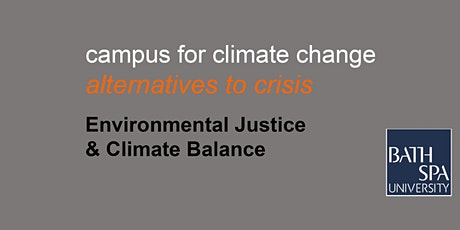 Environmental justice and climate balance tickets