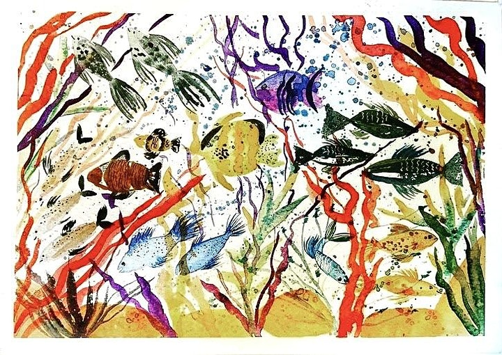 Watercolour Under The Ocean -Corals and Fishes Painting Workshop image