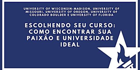 Escolhendo seu curso: como encontrar sua paixão e universidade ideal bilhetes