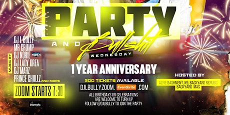 PARTY & BULLSHxT ZOOM Live Party tickets