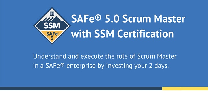 Certified SAFe® Scrum Master COURSE (MUST RUN CLASS) image