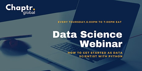 Data Science Webinar – How to get started as a Data Scientist with Python tickets