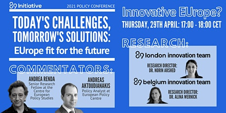 EUrope fit for the future - Panel: Innovative EUrope? tickets