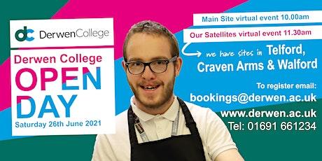 Derwen College Virtual Open Day - Summer 2021 - Satellite Sites tickets