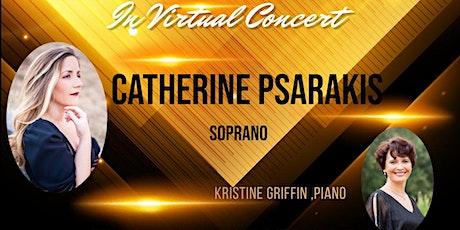 Catherine Psarakis soprano in Live Streaming Concert tickets