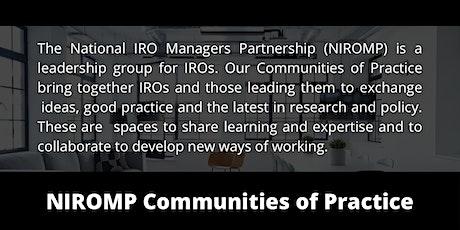 NIROMP Community of Practice - Safeguarding Pressures tickets