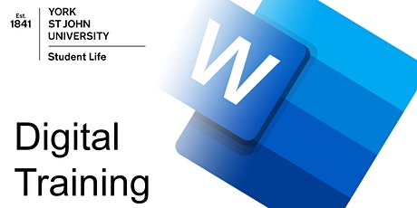 Word for Dissertation & long documents (ON CAMPUS  Mon17th May 2021 11am) tickets