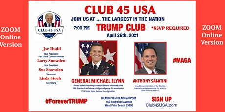CLUB 45 USA APRIL 26, 2021 MEETING on ZOOM - ONLINE ACCESS ONLY! tickets