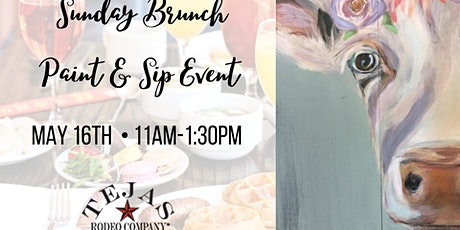 Tejas Rodeo Sunday Brunch Paint & Sip Event tickets