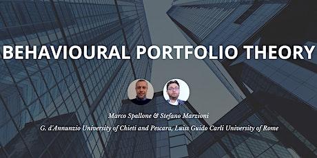 Behavioural Portfolio Theory & Behavioral Finance biglietti