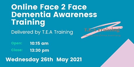 Online Face to Face Dementia Awareness Training tickets