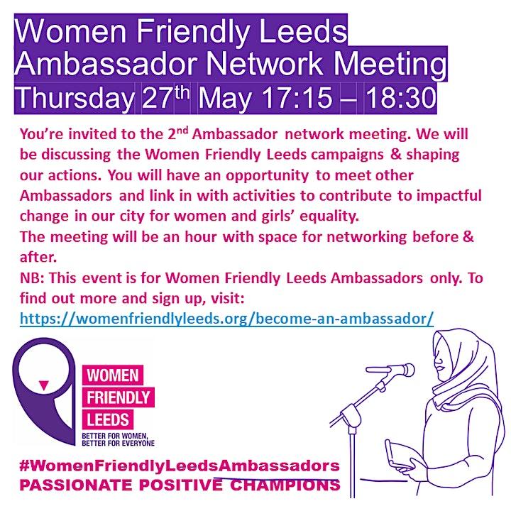 Women Friendly Leeds Ambassador Network Meeting image